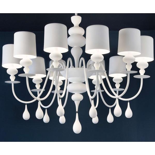 Eva S8 Suspension lamp lampshades in painted aluminium 40W E14