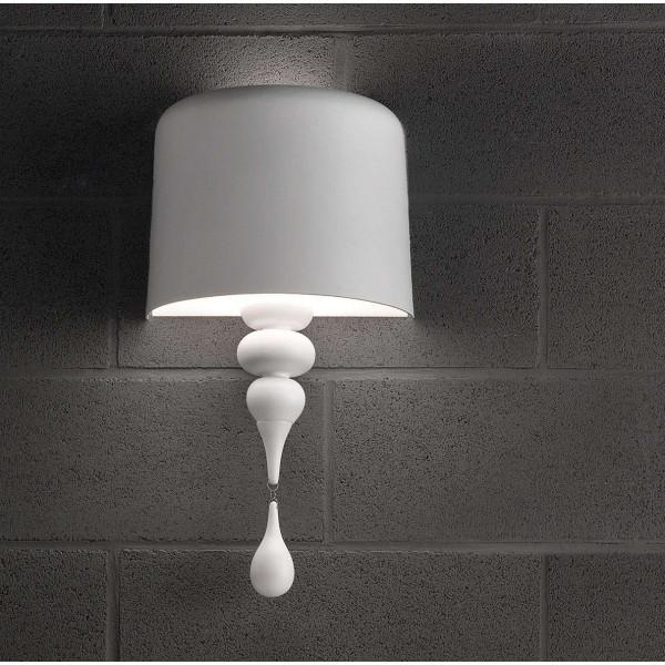Eva A1 M lampada da parete paralume in alluminio verniciato 60W E27
