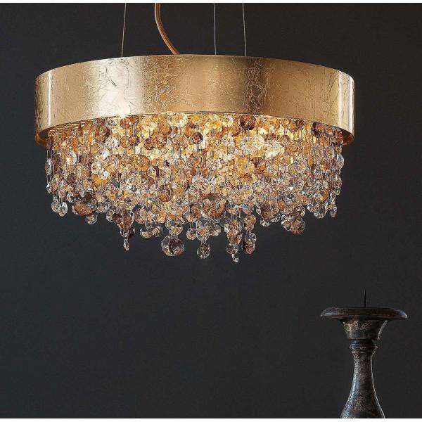 Olà S6 40 lampada a sospensione struttura in metallo verniciato e pendagli in vetro verniciato 40W E14