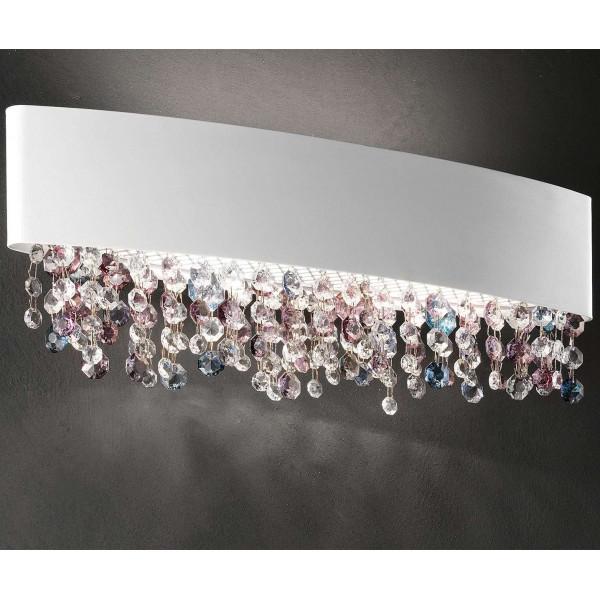Olà A2 OV 50 lampada da parete struttura in metallo verniciato e pendagli in vetro verniciato 60W E27