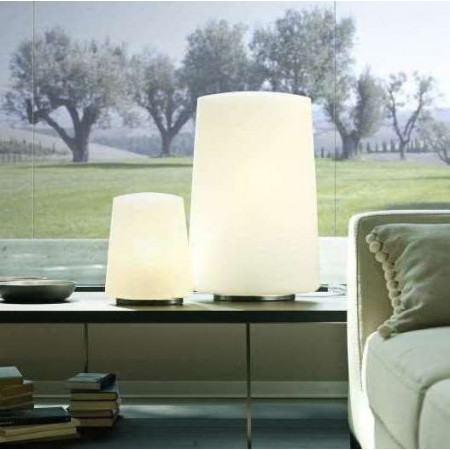 Polar Small Table lamp in opal white blown glass 70W E27