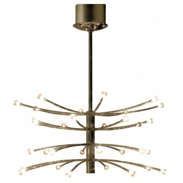 Vertigo 32 lights Suspension lamp metal structure and diffusers in borosilicate glass