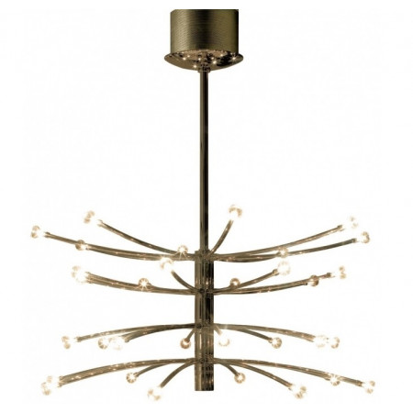 Vertigo 32 luci lampada a sospensione struttura in metallo e diffusori in vetro borosilicato