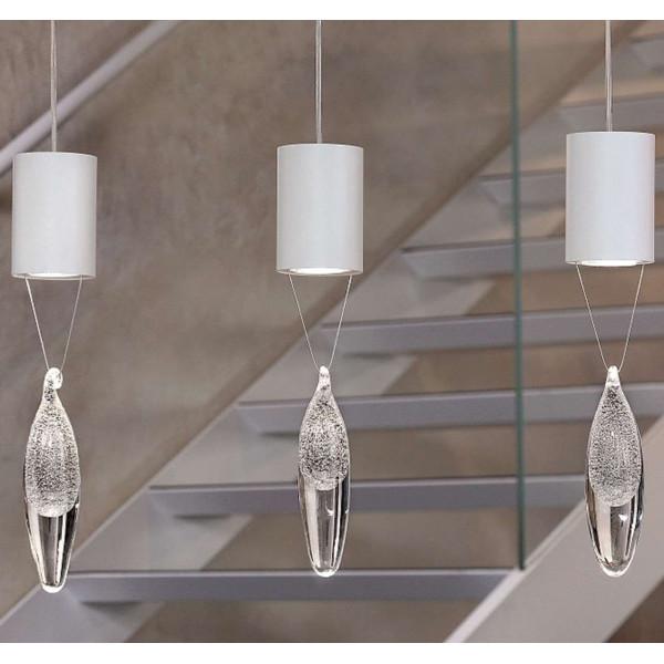 Lampe suspension Anima S1 goutte de cristal 35W GU10